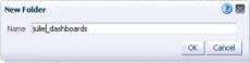 New folder name dialog
