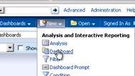 Create new dashboard menu item