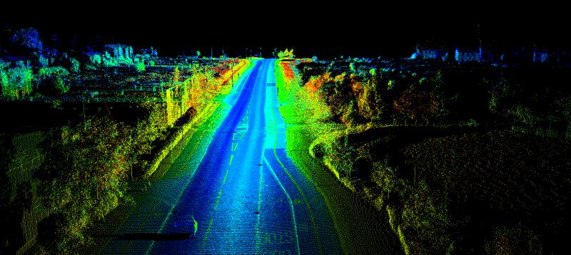 LIDAR scan results