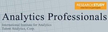 Participate in the Talent Analytics IIA Analytics Professionals Study