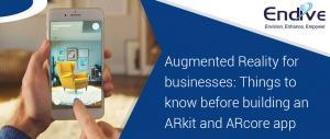 augmented reality for mobile app development