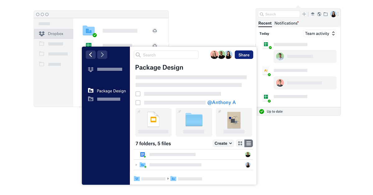 Dropbox workspace