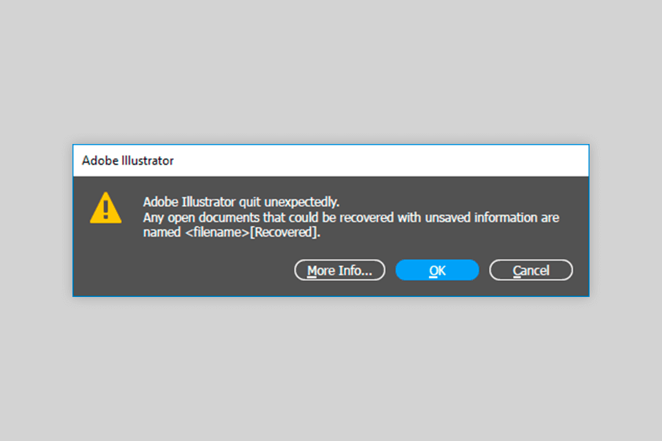 restoration of an automatically saved file in illustrator