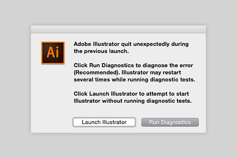 run a diagnostic on illustrator